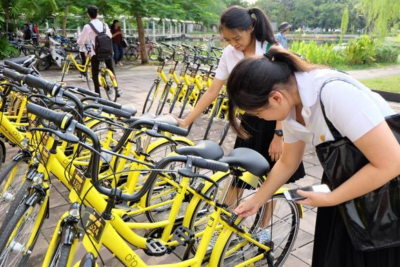 Chinese Bike Share Operators Are Expanding In Thailand